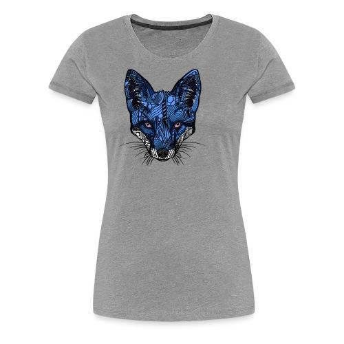 Blårev - Premium T-skjorte for kvinner