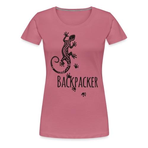 Backpacker - Running Ethno Gecko 1 - Frauen Premium T-Shirt