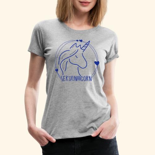 Seksiuniiicorn BLAU - Frauen Premium T-Shirt