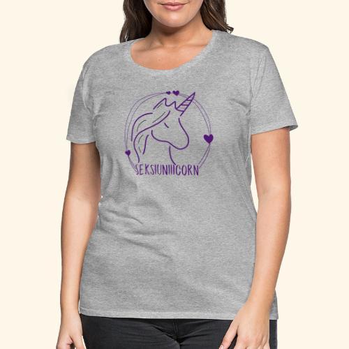 Seksiuniiicorn LILA - Frauen Premium T-Shirt