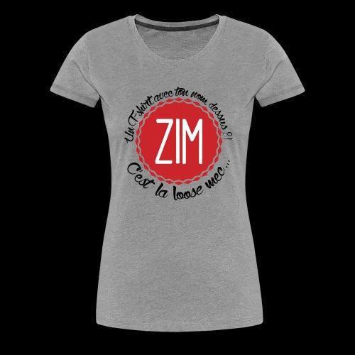 logo tshirt final hd 2 png - T-shirt Premium Femme