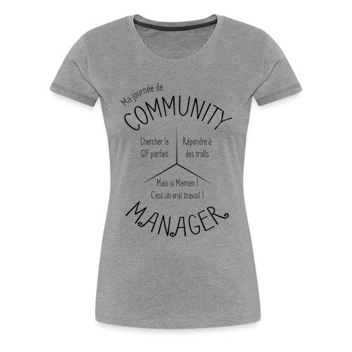 Le Design idéal pour le Community Manager - T-shirt Premium Femme