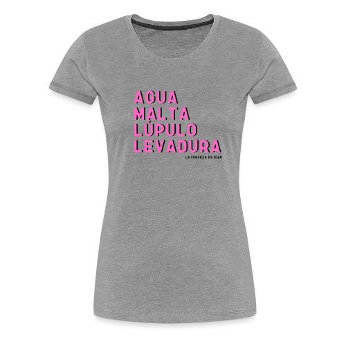 Ingredientes naturales de la cerveza - Camiseta premium mujer