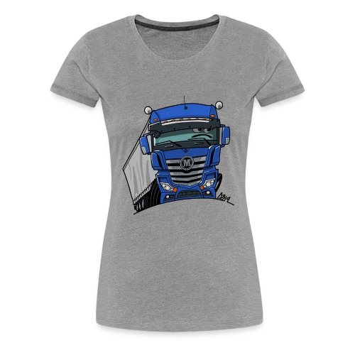 0807 M truck blauw trailer - Vrouwen Premium T-shirt
