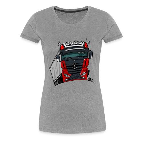0807 M truck zwart rood - Vrouwen Premium T-shirt