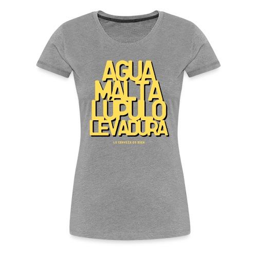 Cerveza Ingredientes Naturales - Camiseta premium mujer
