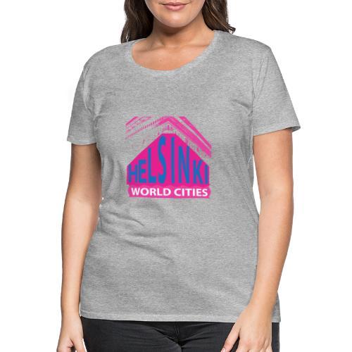 Helsinki2 pink2 - Women's Premium T-Shirt