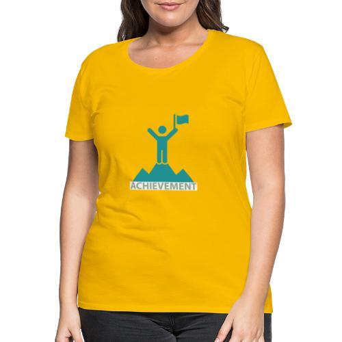 Typo Achiement by CloudMonde - Women's Premium T-Shirt