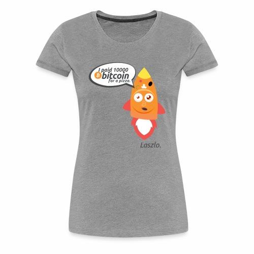 #BitcoinPizzaDay slice - Maglietta Premium da donna