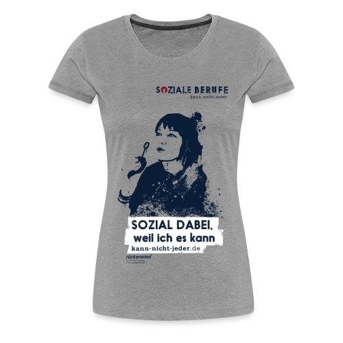 01 motiv frau mit spruch grau png - Frauen Premium T-Shirt