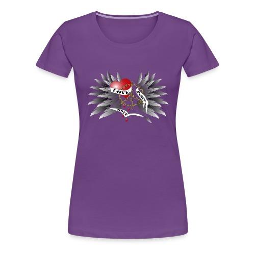 Love, Peace and Hope - Liebe, Frieden, Hoffnung - Frauen Premium T-Shirt