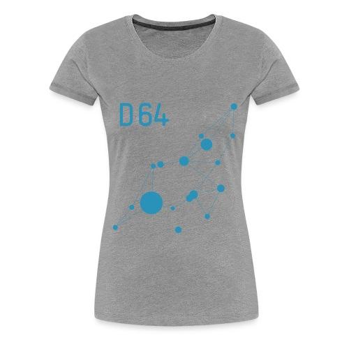 D64 Netzwerk einfarbig - Frauen Premium T-Shirt