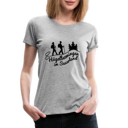 Hügelbezwinger Wanderer - Frauen Premium T-Shirt