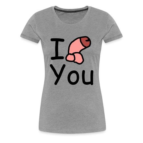 I dong you cup - Women's Premium T-Shirt