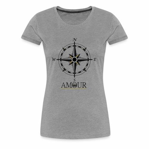 Amour Compass Logo - Women's Premium T-Shirt