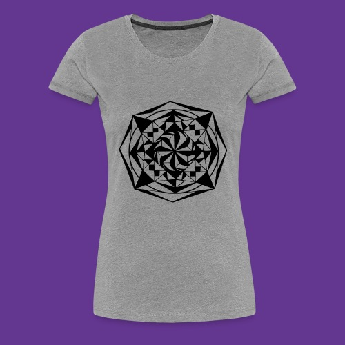 Geometrie Mandala Muster - Frauen Premium T-Shirt