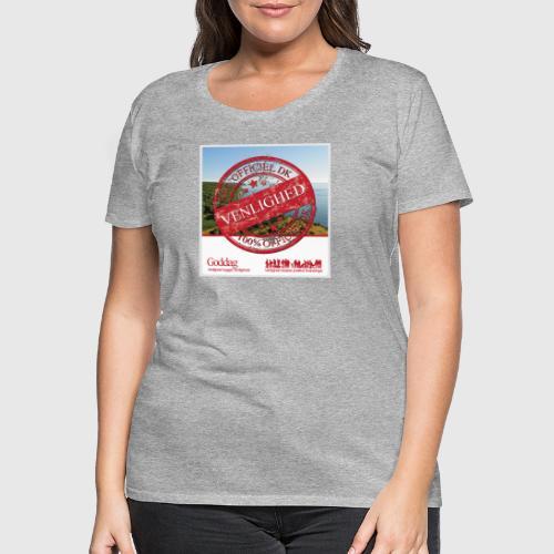 OFFICIAL DANE VENLIGHED png - Dame premium T-shirt