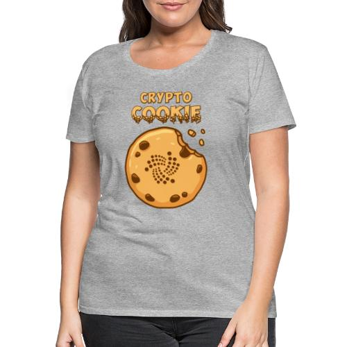 Crypto Cookie - IOTA - BTC, Bitcoin - Keks - Frauen Premium T-Shirt