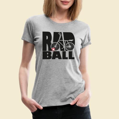 Radball | Typo Black - Frauen Premium T-Shirt