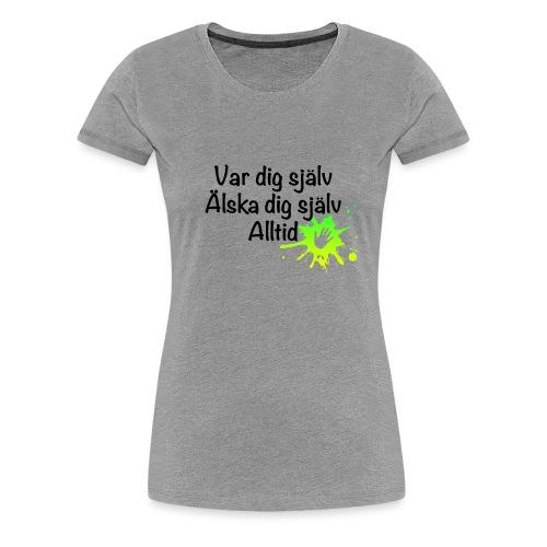 Forever Grön/gul - Premium-T-shirt dam