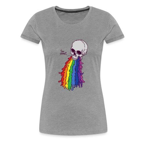 PUKE SKULL - Koszulka damska Premium