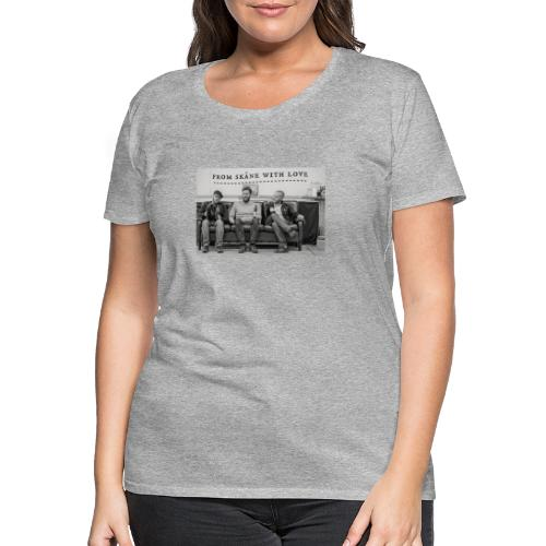 Brothers in couch - Premium-T-shirt dam
