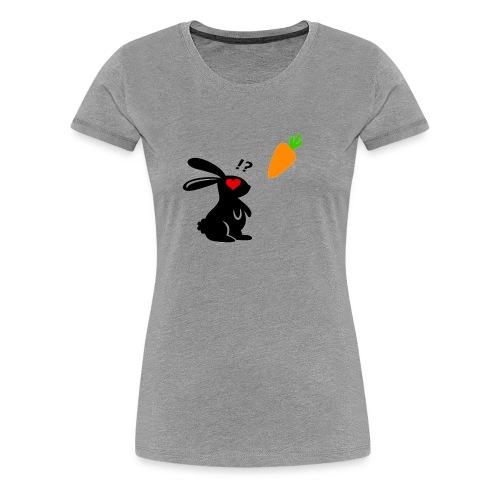Bunny Loves Carrot - Frauen Premium T-Shirt