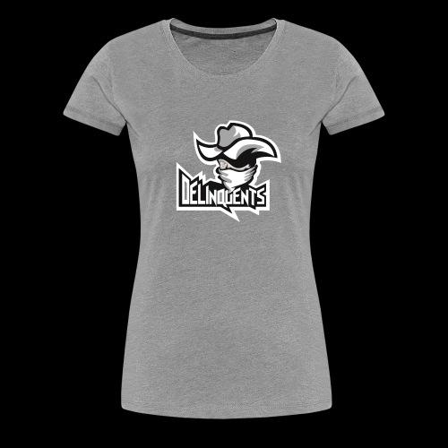 Delinquents Grå Design - Dame premium T-shirt