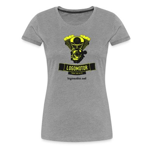 logomotor logo - Frauen Premium T-Shirt