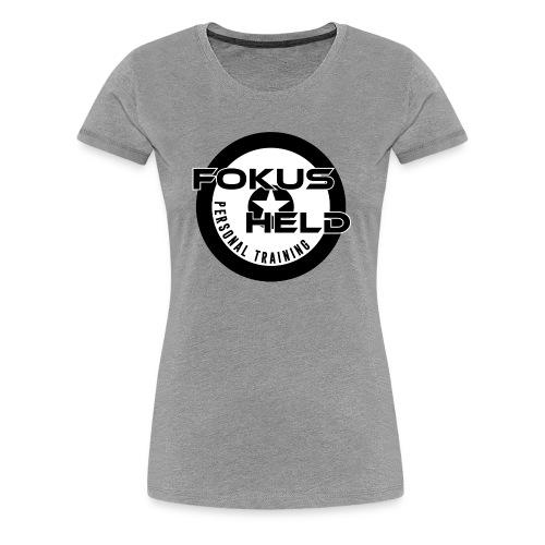 black&white FOKUS HELD - Frauen Premium T-Shirt