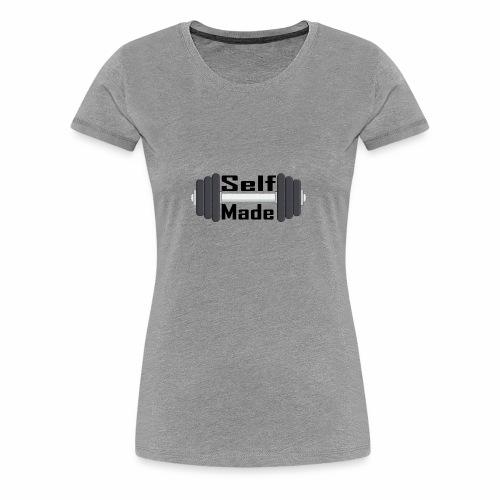 Self Made Black Text - Women's Premium T-Shirt