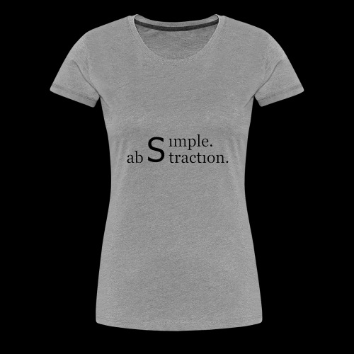 simple. abstraction. logo - Frauen Premium T-Shirt