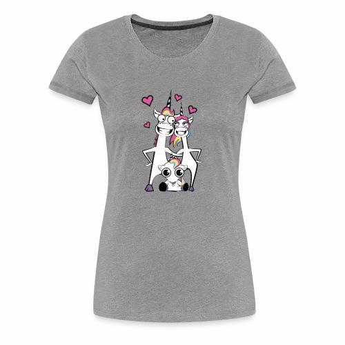 Familie Einhorn - Frauen Premium T-Shirt