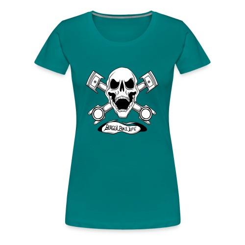 Bergen Bike Life - Premium T-skjorte for kvinner