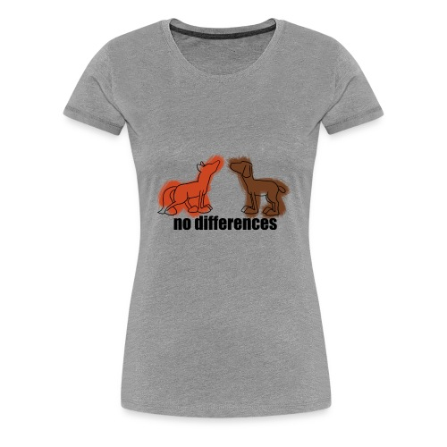 fuchs+hund, fox+dog - Frauen Premium T-Shirt