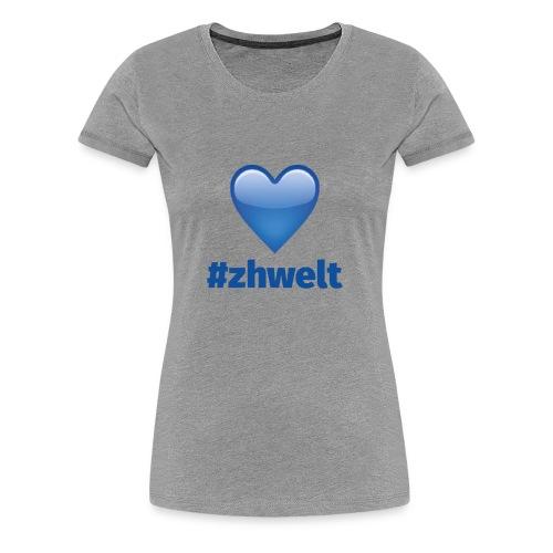 ZHWELT LOGO mit Herz - Frauen Premium T-Shirt