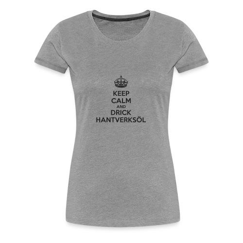 Drick hantverksöl - Premium-T-shirt dam