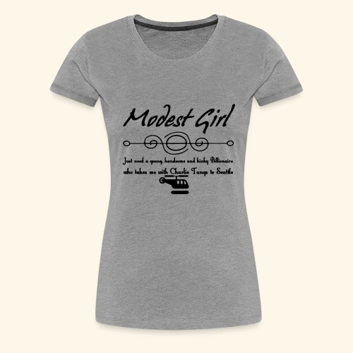 Modest Girl Shirts - Women's Premium T-Shirt
