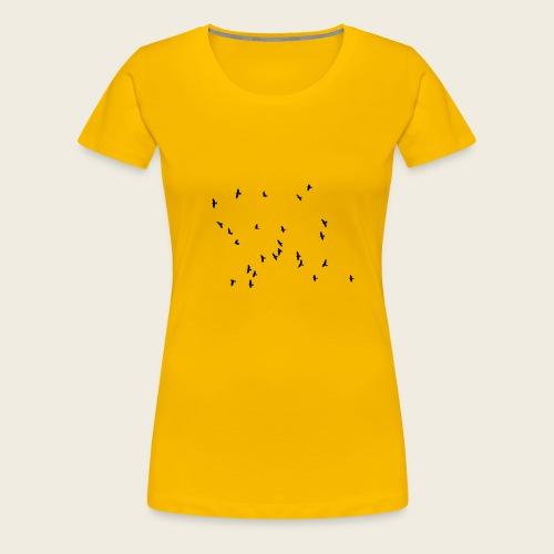 Flying birds - Dame premium T-shirt