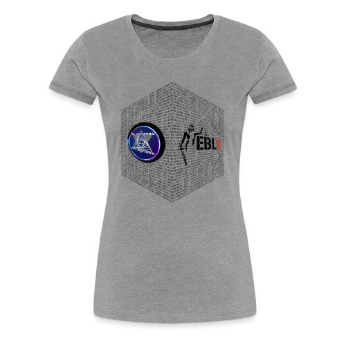 disen o dos canales cubo binario logos delante - Women's Premium T-Shirt