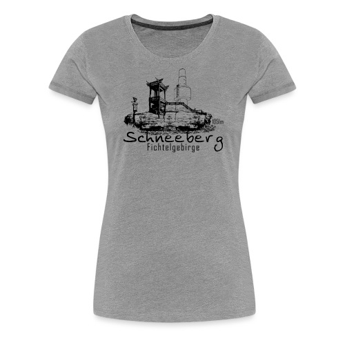 Schneeberg im Fichtelgebirge Fichtelhills - Frauen Premium T-Shirt