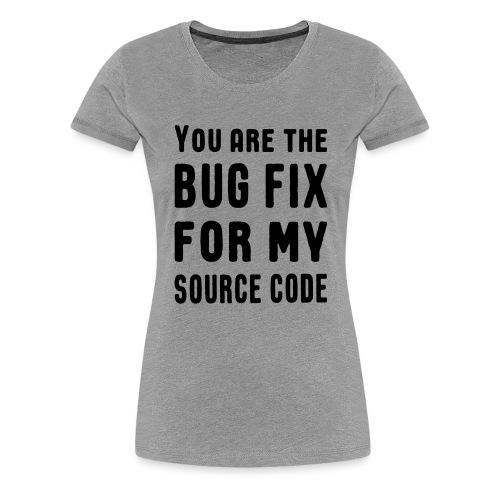 Programmierer Beziehung Liebe Source Code Spruch - Frauen Premium T-Shirt
