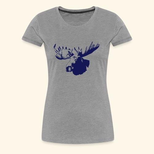 elch - elk - moose - jagd - jäger - Frauen Premium T-Shirt