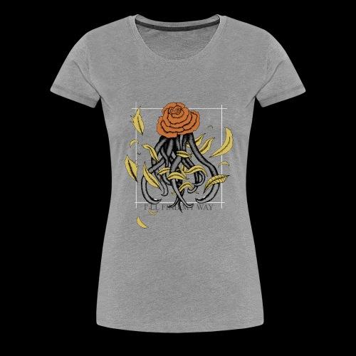 Rose octopus - T-shirt Premium Femme