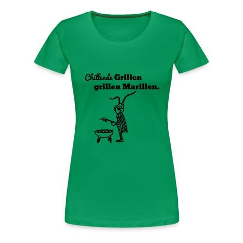 grillen - Frauen Premium T-Shirt