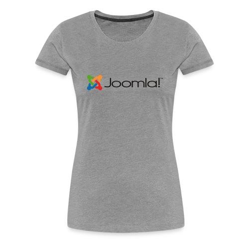 Joomla! Basiclogo Longshirt Blue - Frauen Premium T-Shirt
