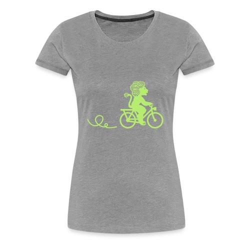 Züri-Leu beim Velofahren ohne Text - Frauen Premium T-Shirt