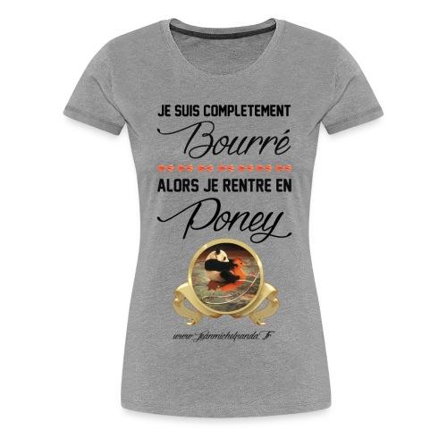 Jean Michel Panda Bourré - T-shirt Premium Femme