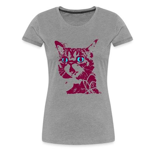 chat violet - T-shirt Premium Femme