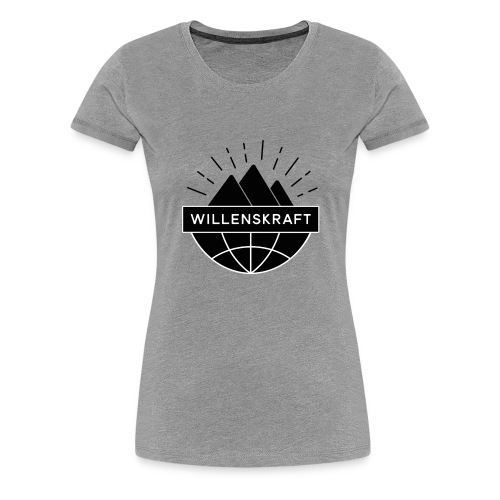Willenskraft_Welt - Frauen Premium T-Shirt